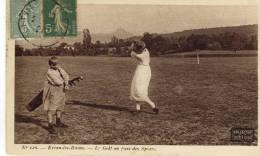 CPA ( GOLF )   EVIAN LES BAINS Le Golf Au Parc Des Sports - Golf
