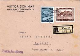 Österr., RECO-Brief 1947 (ANK 757+767) - 1945-.... 2. Republik