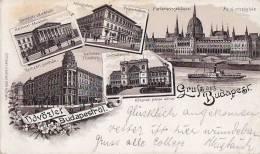 Hongrie - Gruss Aus Budapest -  Ecole Polytechnique - Gare Chemins De Fer  - Postmark 1895 - Hungary