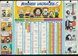 CALENDRIER  1985 - 1986 - MAFALDA Par Quinto - Bande Déssinée - Calendars