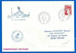 Marine Nationale - 29 N Brest Laninon Marine (3035) DO BERLAIMONT - 15 12 1981 - Seepost