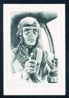 Deutschland  Grün Weiße Ansichtkarte Der Deutsche Soldat Flugzeugführer Nicht Gelaufen 1941 - Guerre 1939-45