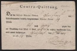 1804 GLEISDORF Österreich Quittung 14 Militär-Pferde Bis Nach GRAZ Armee - Manuscripts