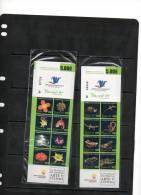 ECUADOR, 2011,REPTILES,TURTLE, LIZARD,FROGS, FLOWERS, 2 BOOKLETS, MNH, - Kikkers