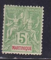 MARTINIQUE N° 34 5C VERT TYPE ALLÉGORIQUE NEUF SANS CHARNIÈRE - Martinique (1886-1947)