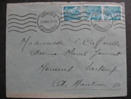 CMI 71 -  TB Enveloppe, Affranchie Avec: N° 538 X 3 . De Lourdes  Pour Mouaus Sartoul (24/07/1943) . - 1921-1960: Modern Period