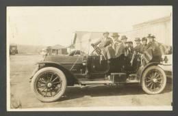 MEXICO  TIJUANA  1915  LADIES AND GENTLEMEN ON  CAR  AUTOMOBILE , OLD REAL PHOTO POSTCARD