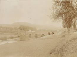 Euerdorf, Kreis Bad Kissingen, Bayern, Saalebrücke, FOTO Um 1912, Original - Lieux