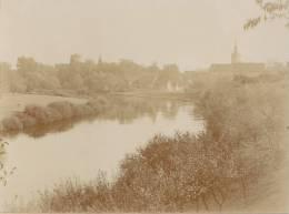 Schkopau, Saalekreis, Sachsen-Anhalt, Blick Auf Kirche Und Schloss, FOTO 1917, Original - Orte