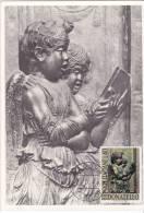 Carte Maximum ITALIE N° Yvert  953 (DONATELLO - Anges Chanteurs) Obl Sp 1966 - Scultura