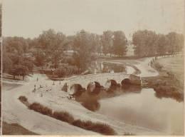 Halle Saale, Ortsteil Ammendorf, Blick Auf Die Schafbrücke, FOTO Um 1920, Original - Lieux