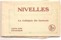 NIVELLES CARNET COMPLET 9 VUES  COLLEGIALE ST GERTRUDE - Nivelles