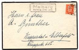 Lettre Locale (23.01.1933) De Malberg (Kyllberg)_12 Pf_Weimar - Covers & Documents