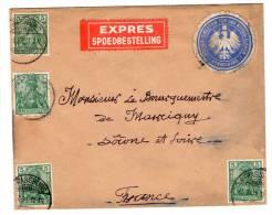 Lettre De Strassburg (21.07.1901) Pour Marcigny_Express_Spoedbestelling - Allemagne