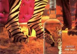 Smirnoff Vodka Postcard Clever Zebra And Leopard Like Man On The Hunt For Girl - 09872 - Advertising