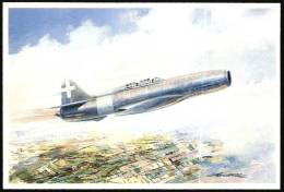 ITALIA 1991 - FLORENTIA ´91 - 50° ANNIVERSARIO PRIMO VOLO POSTALE A REAZIONE MILANO / GUIDONIA CON CAMPINI-CAPRONI CC2 - 1939-1945: 2a Guerra