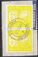 Rhodesia, Postage Due, Used On Fragment, 6cents, SALISBURY 19 DEC 77  C.d.s. - Rhodesia (1964-1980)