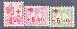 Netherlands Indies B 1-3   **  RED  CROSS - Nederlands-Indië