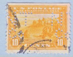 U.S. 400    Perf 12  PERFIN   (o) - Used Stamps