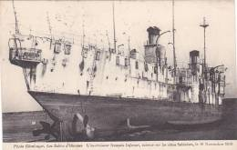 20845 SABLES D´OLONNE (85 France ) EX-CROISEUR FRANCAIS INFERNET ECHOUE 10 11 1910 -photo Ehmlinger Naufrage - Guerre