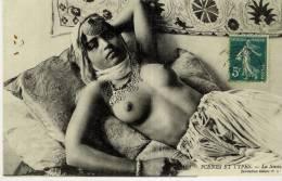 ALGERIE  - SCENES ET TYPES  - La Sieste   - (Belle Jeune Femme Seins Nus) - Algeria