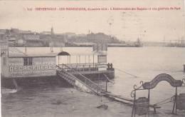 20851 TRENTEMOULT-(REZE) Inondations, 12-1910- Embarcadere Requies Vue Generale Port -117 Artaud Nozais -messageries - France