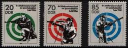 EAST GERMANY 1986 - 4th WORLD SHOOTING CHAMPIONSHIPS - MINT - Tiro (armi)