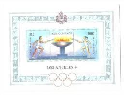 San Marino, Year 1984, SG MS 1228, Olympic Games 1984, MNH** - Zomer 1984: Los Angeles