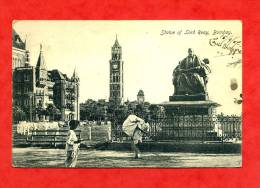 * ASIE-INDES-Statue Of Lord Reay-BOMBAY(enfants Avec Chargement Sur épaule)-1907 - Cartes Postales