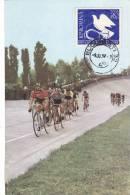CYCLISM,PEACE COURS,1957,CM,MAXI CARD,CARTES MAXIMUM - Ciclismo