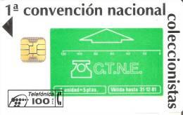 P-063/a TARJETA 1ª CONVENCION COLECCIONISTAS DE TIRADA 5100   CHIP F-3 - España
