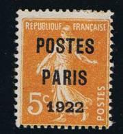 France: 1922 Yv. 30, Neuf Avec ( Ou Trace De) Charniere / MH