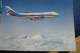 AEROLINEAS ARGENTINAS   B 747 200     AIRLINE ISSUE / CARTE COMPAGNIE - 1946-....: Era Moderna