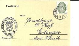 W189 / Dienstpostkarte Der Uni.-Bibliothek Erlangen 1931 - Deutschland