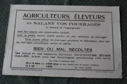 Buvard Collection (publicitaire)agriculteur,éleveur Salant Fourrage Au Moment De L'engranrangement Conservation Parfaite - Agriculture