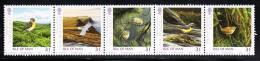 Isle Of Man MNH Scott #1142 Strip Of 5 31p Whinchat, Hen Harrier, Goldcrest, Grey Wagtail, Wren - Birds - Man (Ile De)