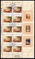 Isle Of Man Used Scott #1064 Sheet Of 10 28p Port St. Mary By Alfred Heaton Cooper - Europa 2004 - Man (Ile De)