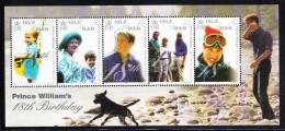 Isle Of Man MNH Scott #860 Souvenir Sheet Of 5 Prince William`s 18th Birthday - Man (Ile De)