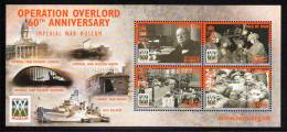Isle Of Man MNH Scott #1032 Souvenir Sheet Of 4 50p D-Day, 60th Anniversary - Man (Ile De)