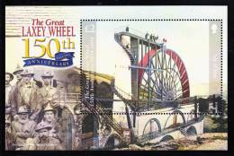 Isle Of Man MNH Scott #1062 Souvenir Sheet 2pd The Great Laxey Wheel, 150th Anniversary - Man (Ile De)