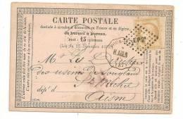 Lettre - NORD - FOURMIES Losange De Points EP2° S/TP N°55 -  1876 Voir - 1871-1875 Ceres