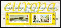 Isle Of Man MNH Scott #1144 Souvenir Sheet Of 2 50th Anniversary Of 1st Europa Stamps - Man (Ile De)