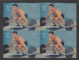Umm Al Qiwain (1972)  3D - Block Of 4  /  Olympic Games - Gewichtheben - Weightlifting - Haltérophilie - Verano 1972: Munich