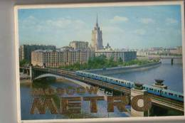 RUSSIE - MOSCOU METRO Pochette De 16 Cartes - Russland