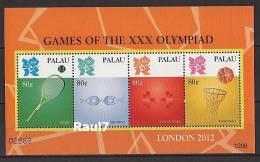 Palau - Tennis, Basketball, J.O. London 2012 - Feuillet Neufs // Mnh - Palau