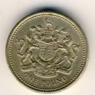 1983 Great Britain 1 Pound Coin AU - 1971-… : Monnaies Décimales