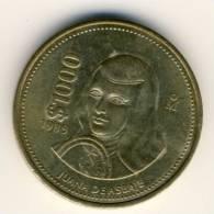1989 Mexico 1000 Pesos Coin In AU Condition - Mexico