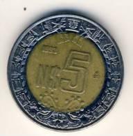 1993 Mexico 5 New Pesos  In AU Condition - Mexico
