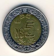 1992 Mexico 5 New Pesos  In AU Condition - Mexico