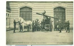 SAPEURS POMPIERS DE PARIS, Le Fourgon, En Reconnaissance (BELLE SCENE! Chevaux Attelés, Grande échelle, Lance) - Sapeurs-Pompiers